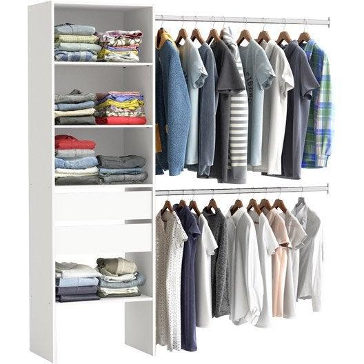 kit dressing am nagement placard penderie et dressing au meilleur prix leroy merlin. Black Bedroom Furniture Sets. Home Design Ideas