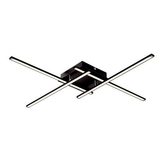 plafonnier design led int gr e domini m tal noir 4 x 7 5 w brilliant leroy merlin. Black Bedroom Furniture Sets. Home Design Ideas