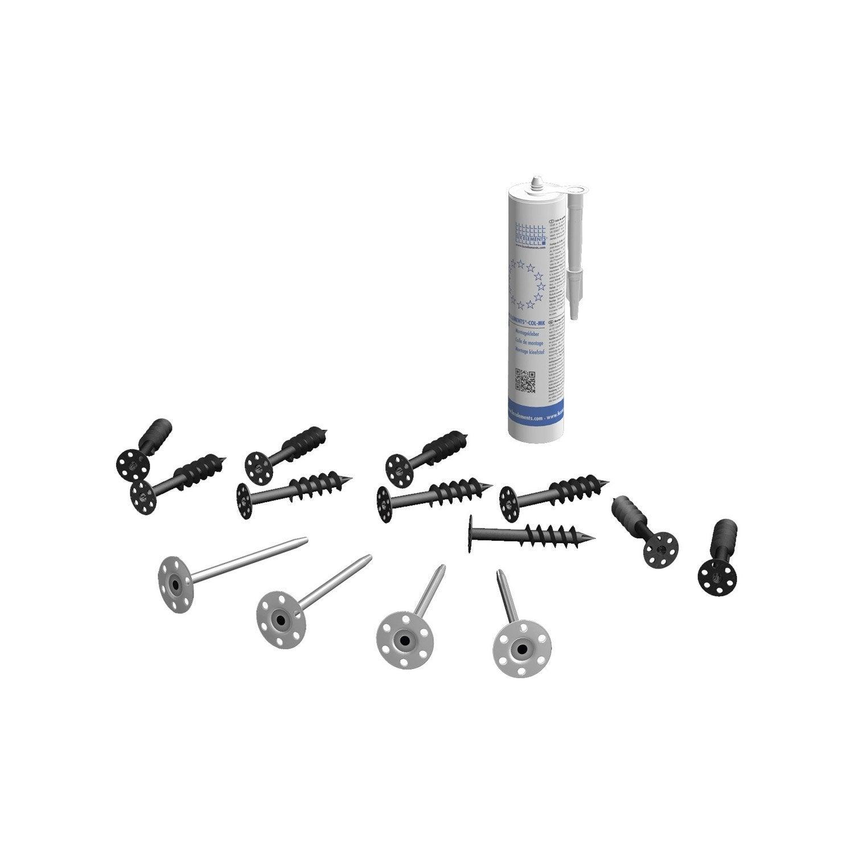 kit fixation baignoire Kit de montage tablier de baignoire H.40 cm x l.30 cm, ...