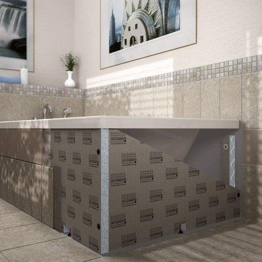 habillage de baignoire h60 cm x l90 cm lux elements - Carreler Une Salle De Bain