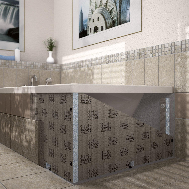 Habillage de baignoire cm x cm lux elements leroy merlin - Panneaux d habillage pour renover sa salle de bains ...