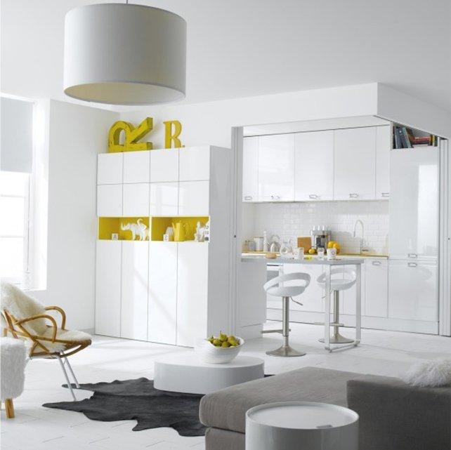 am nager une cuisine semi ouverte leroy merlin. Black Bedroom Furniture Sets. Home Design Ideas