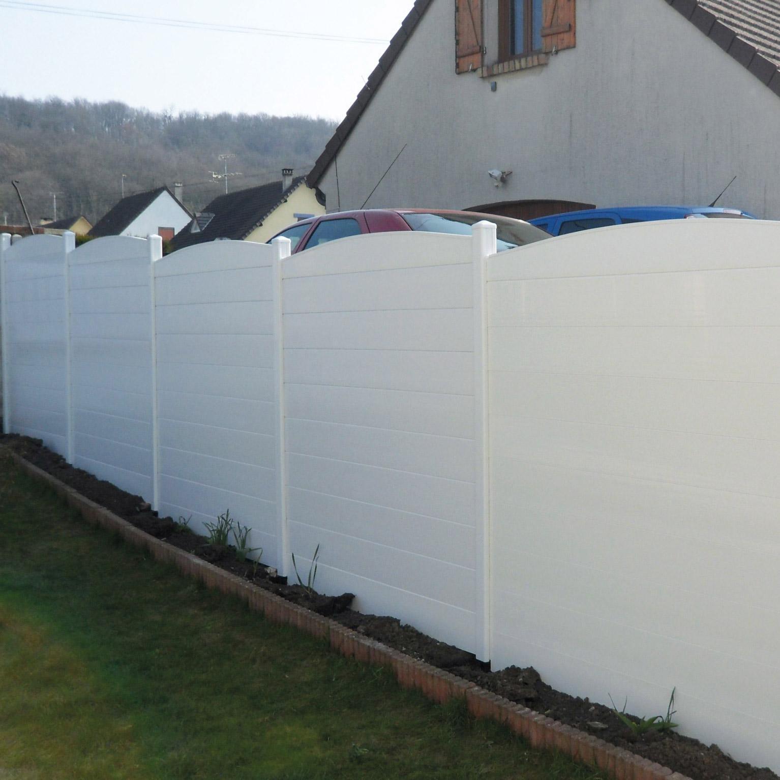 Petite Cloture De Jardin Blanche clôture à composer pvc littoral blanc