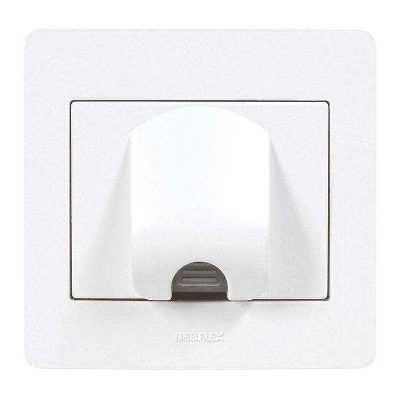 Sortie De Câble Diam2 Blanc Debflex