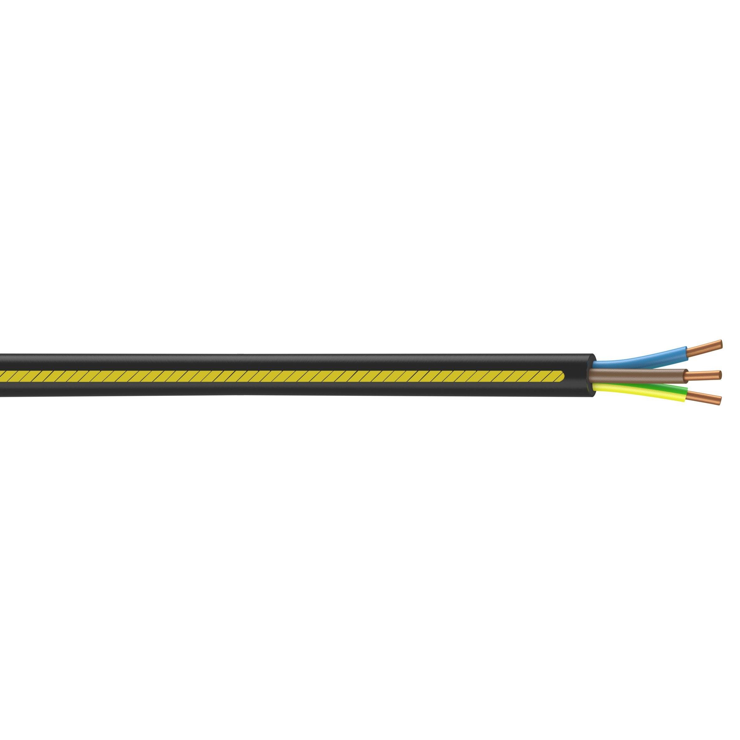 35 m /&n Livraison gratuite S/élection en 1 m/ètre C/âble de terre NYY-J 5 x 16 mm2 Exemple : 20 m 25 m au m/ètre en m/ètre : c/âble dalimentation /électrique en PVC noir mm2
