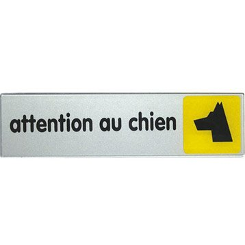 Plaque plexiglass attention au chien en plastique