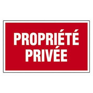 Plaque propriété privée en plastique