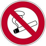 Disque Défense de fumer, à fixer en plastique