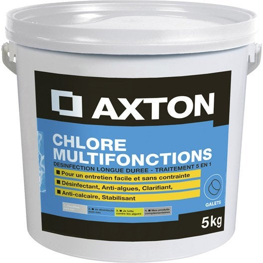 chlore lent pour piscine axton 5 kg leroy merlin. Black Bedroom Furniture Sets. Home Design Ideas