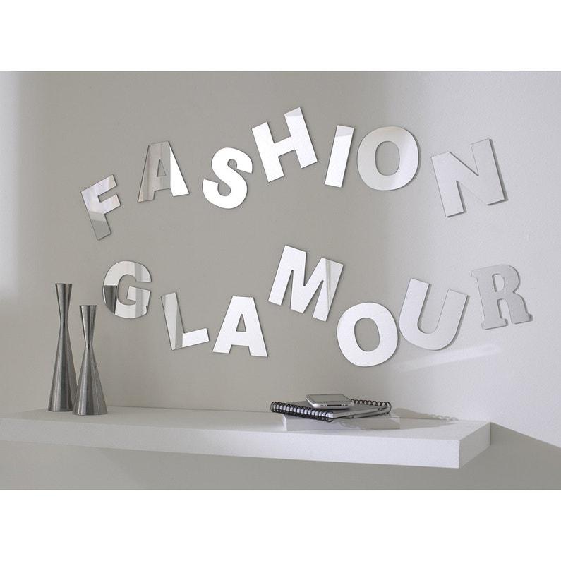 Lettre Miroir F 10 Cm X 10 Cm