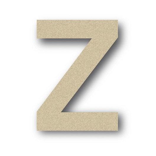 Lettre bois majuscule z 6 cm x 6 cm leroy merlin - Z en majuscule ...