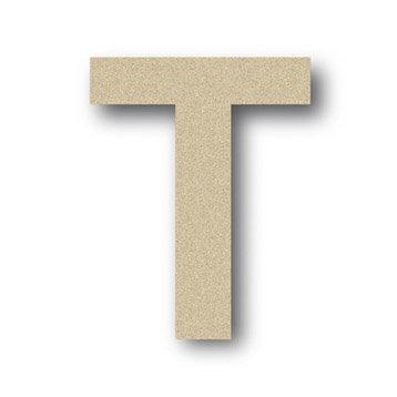 Lettre bois Majuscule t 6 cm x 6 cm