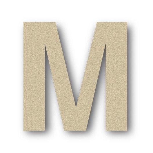 Lettre bois majuscule m 6 cm x 6 cm leroy merlin - Lettre de motivation leroy merlin ...