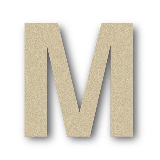 lettre bois majuscule m 6 cm x 6 cm leroy merlin. Black Bedroom Furniture Sets. Home Design Ideas
