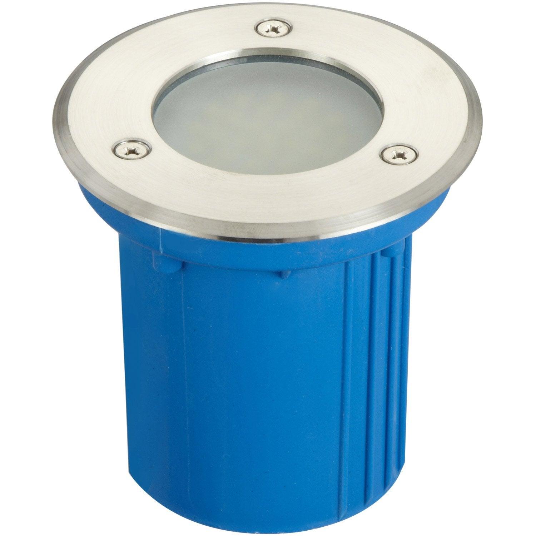 Spot enterrer ext rieur diam 10 cm acier inoxydable leroy merlin for Spot decoratif exterieur