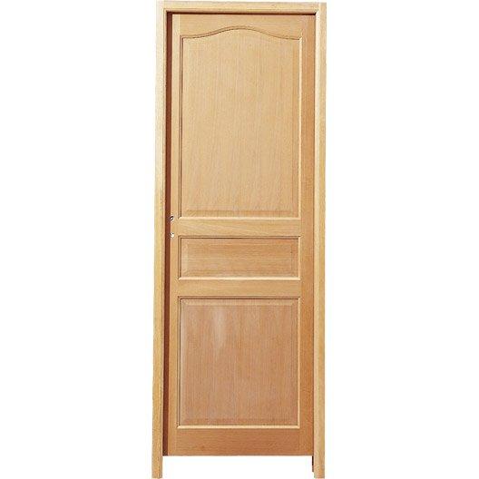 bloc porte moli re pleine poussant gauche 204 x 73 cm leroy merlin. Black Bedroom Furniture Sets. Home Design Ideas