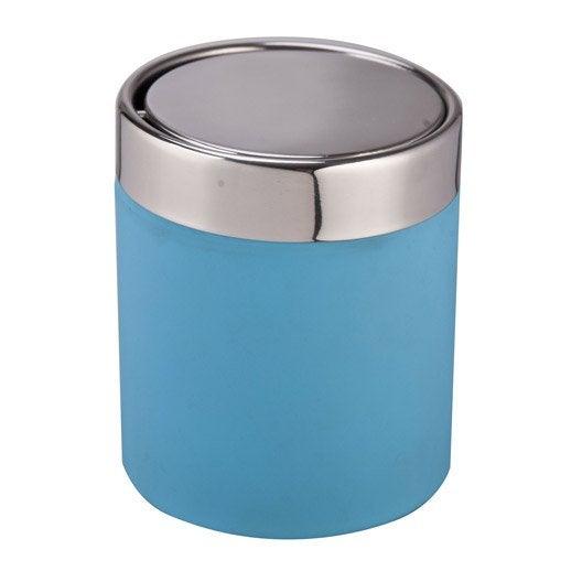 Poubelle de salle de bains charlie bleu atoll n 4 leroy for Poubelle de salle de bain bleu