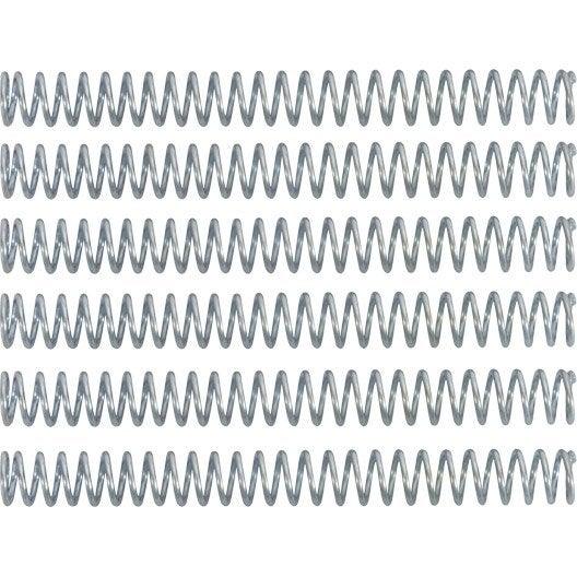 Ressorts de compression en acier galvanisé, larg 6 x long 60mm