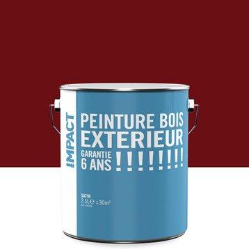 peinture bois ext rieur satin rouge 2 5l. Black Bedroom Furniture Sets. Home Design Ideas