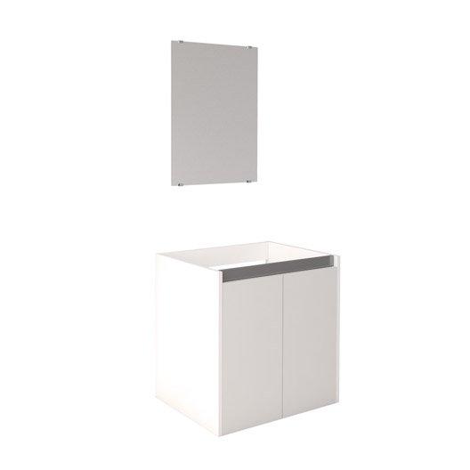 meuble sous vasque x x cm blanc first leroy merlin. Black Bedroom Furniture Sets. Home Design Ideas