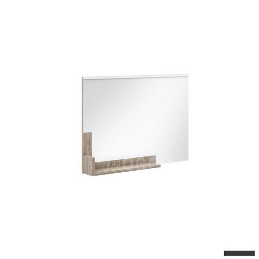 Miroir avec clairage int gr cm eden leroy merlin for Miroir hauteur 90