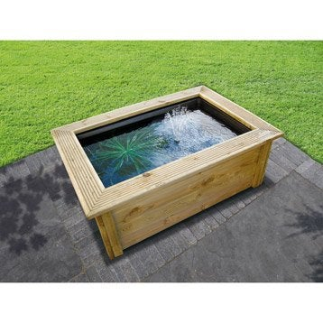 Kit bassin UBBINK Quadra bois lad, marron, H.4 cm