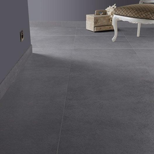 carrelage sol et mur anthracite effet b ton lune x cm leroy merlin. Black Bedroom Furniture Sets. Home Design Ideas