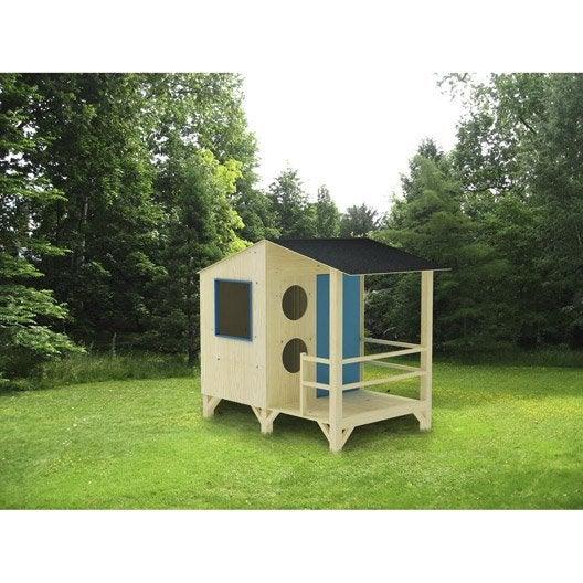 Maisonnette chalet maison cabane enfant leroy merlin for Cabanes de jardin leroy merlin