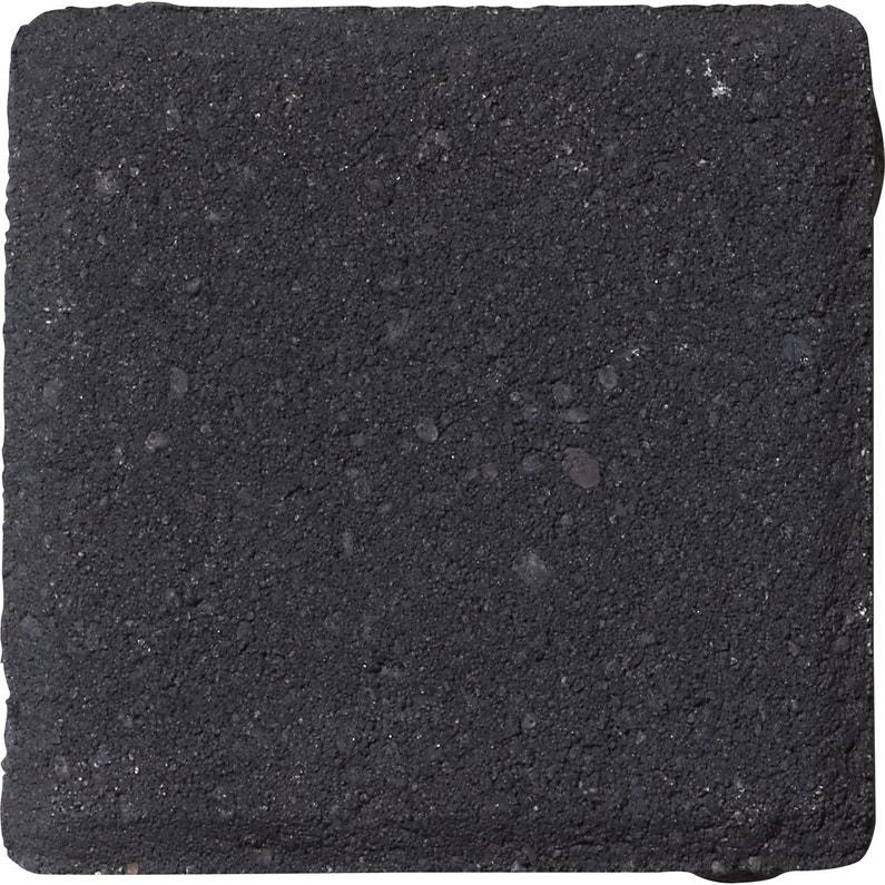Pavé Béton Ergo Noir L125 Cm X L125 Cm X Ep60 Mm