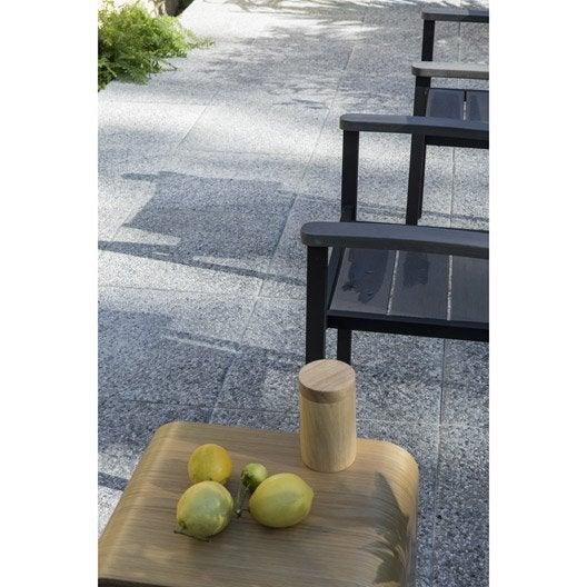 Dalle b ton niagara gris clair x cm x mm leroy merlin - Dalle beton gravillonnee ...