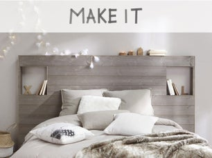 diy r aliser une t te de lit avec des tasseaux leroy merlin. Black Bedroom Furniture Sets. Home Design Ideas
