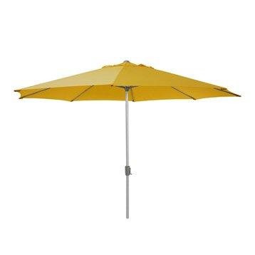 Parasol droit Rhea jaune octogonal, L.395 x l.395 cm