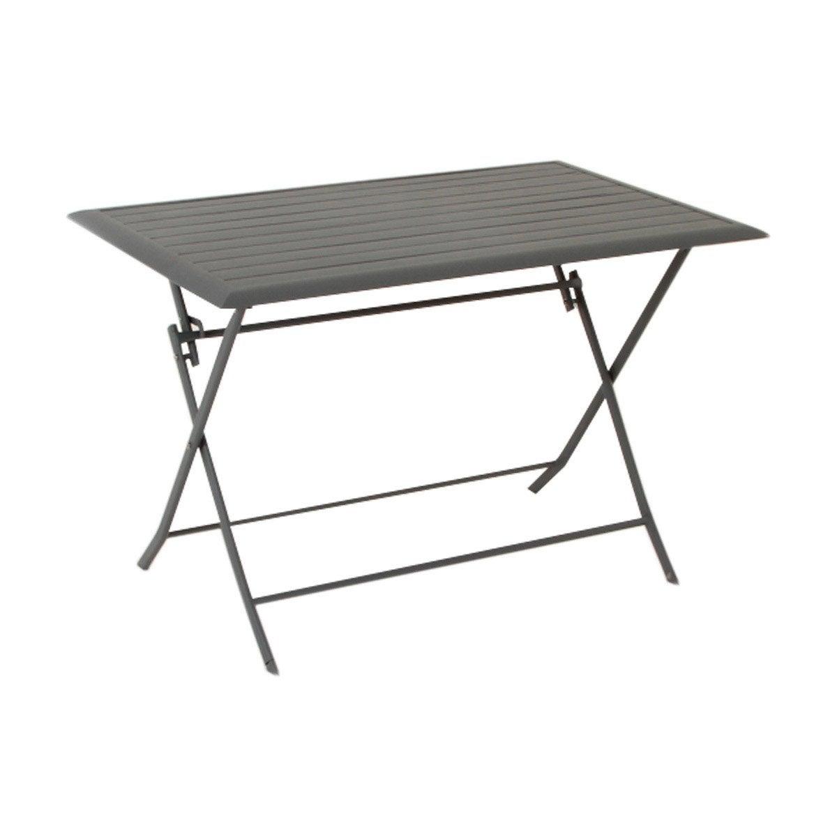 table de jardin hesperide azua rectangulaire ardoise 4 personnes leroy merlin. Black Bedroom Furniture Sets. Home Design Ideas