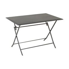 Table de jardin aluminium bois r sine leroy merlin - Customiser une table en bois ...