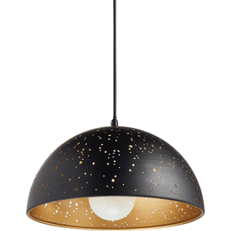 Suspension métal noir mat INSPIRE Ydro 1 lumière(s) D.30 cm