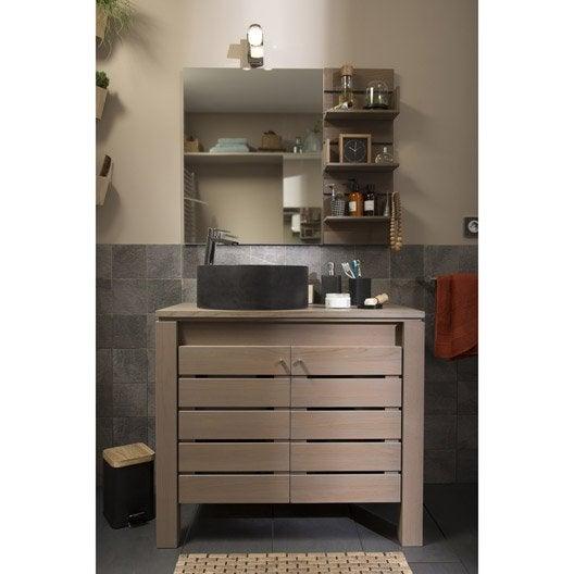 meuble sous vasque x x cm moorea leroy merlin. Black Bedroom Furniture Sets. Home Design Ideas
