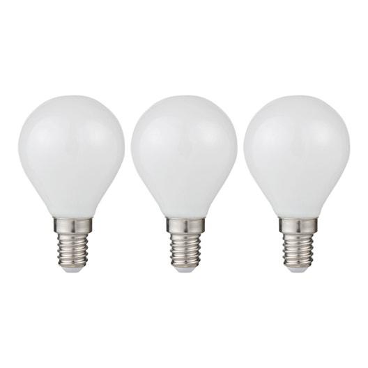 ampoules led rondes e14 5w 470lm quiv 40w 3000k 300 lexman lot de 3 leroy merlin. Black Bedroom Furniture Sets. Home Design Ideas