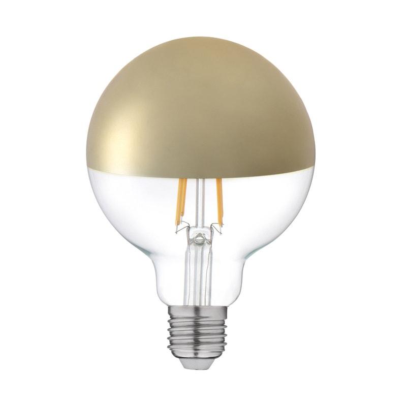 Ampoule Décorative Led Or Globe 95 Mm E27 600 Lm 55 W Blanc Chaud Lexman