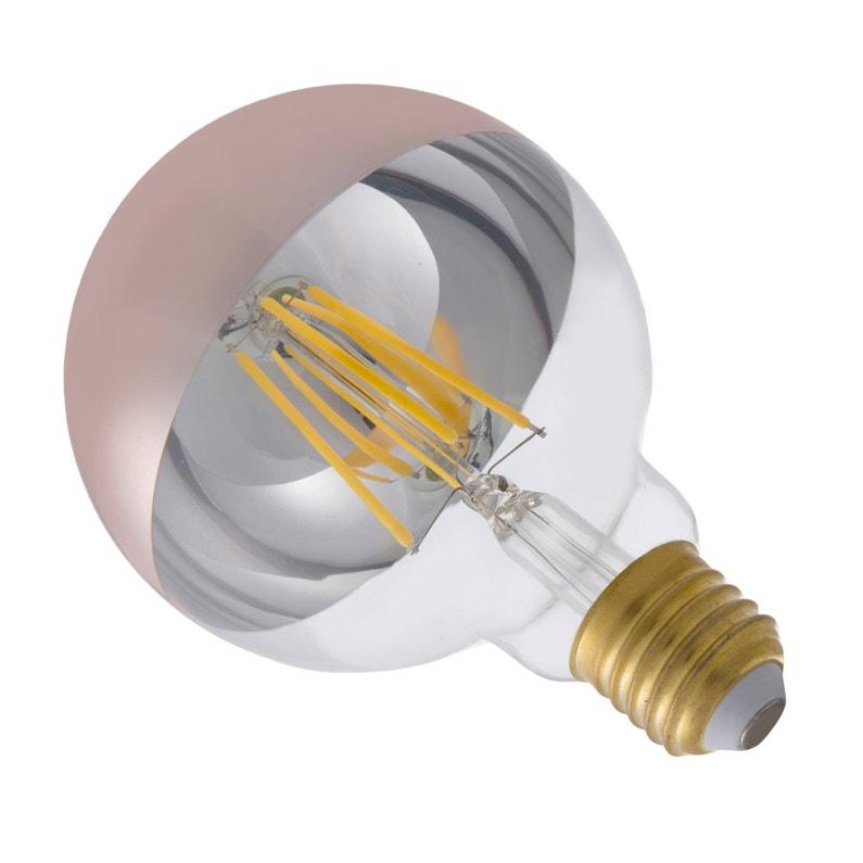 Ampoule Décorative Led Cuivré Globe 95 Mm E27 600 Lm 55 W Blanc Chaud Lexman