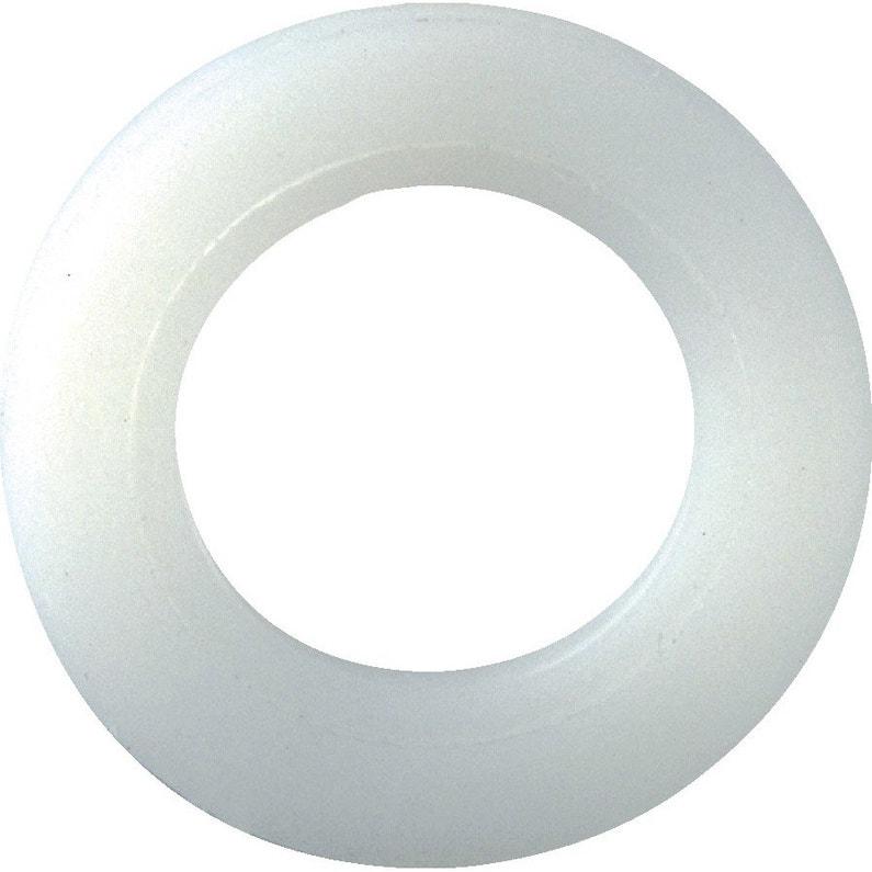 Lot De 10 Rondelles Nylon Plastifié H25 X L25 X P3 Mm