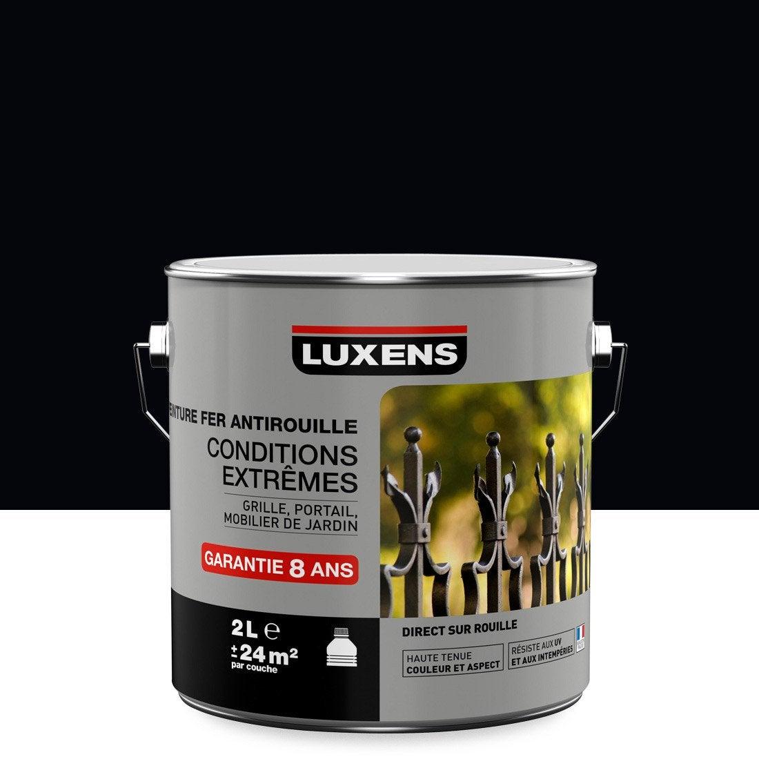 Peinture Fer Extérieur Antirouille Luxens Noir Noir N0 2 L