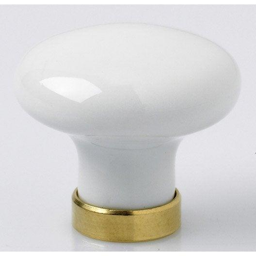 bouton de meuble porcelaine de limoges laitonn leroy. Black Bedroom Furniture Sets. Home Design Ideas