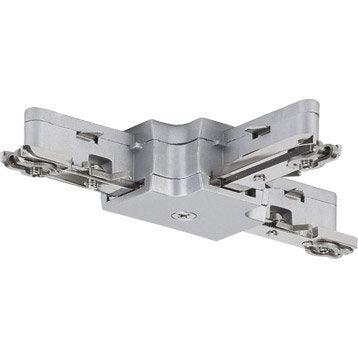 Connecteur led Urail métal Chrome mat, 0 PAULMANN