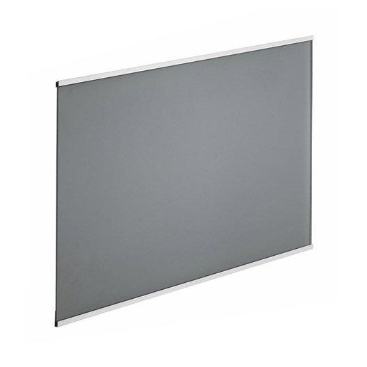 fond de hotte verre frozen gris cm x cm leroy merlin. Black Bedroom Furniture Sets. Home Design Ideas