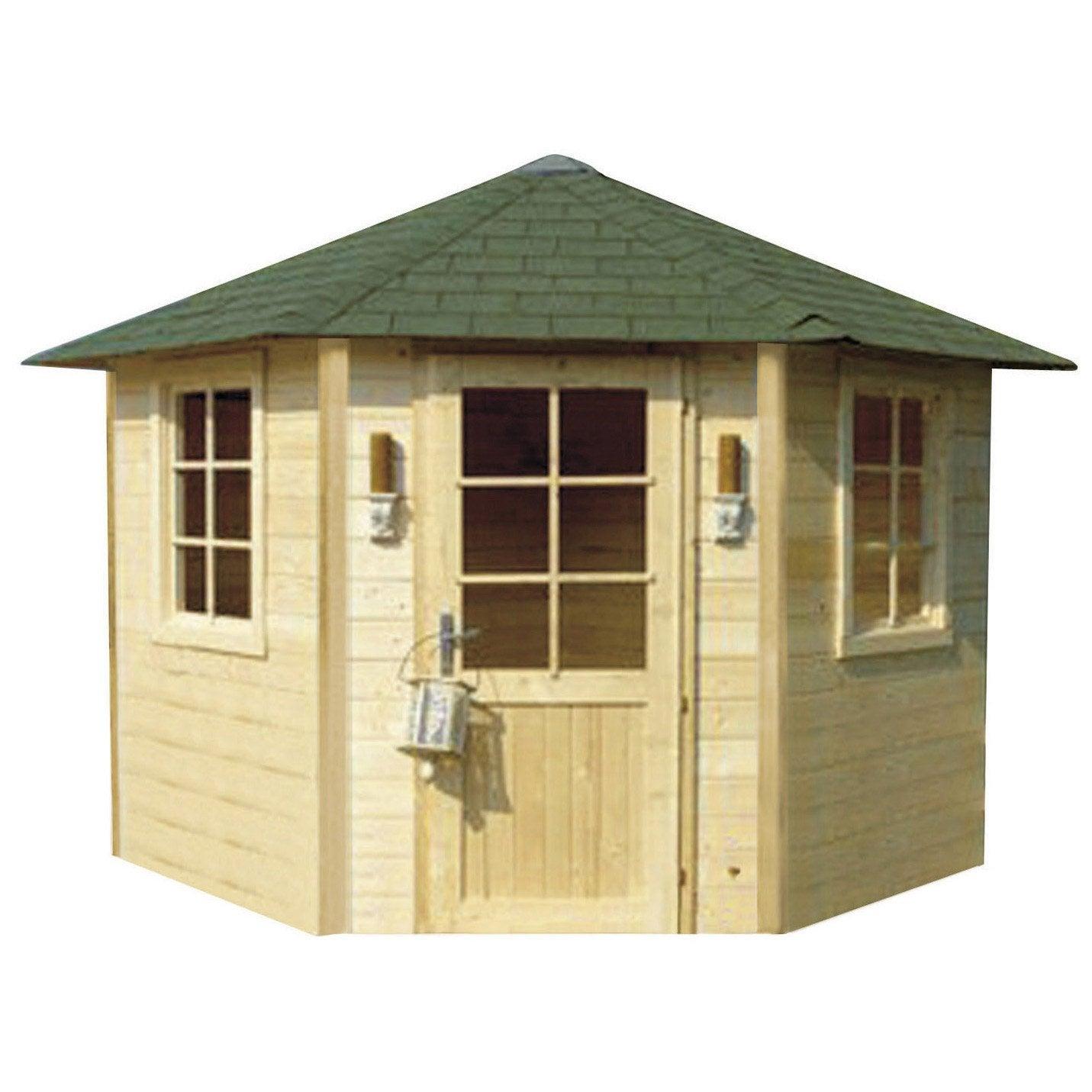 abri de jardin bois milano m mm leroy merlin. Black Bedroom Furniture Sets. Home Design Ideas