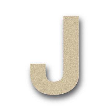 Lettre bois Majuscule j 6 cm x 6 cm