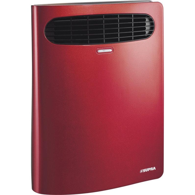 Radiateur Soufflant électrique Supra Book 1 06 Rouge 2000 W