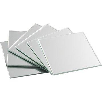 Lot de 4 miroirs argent SENSEA, 10.5 x 10.5 cm