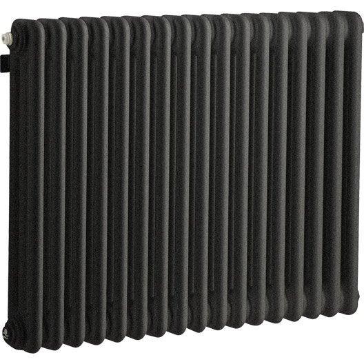Radiateur chauffage central acier tesi 3 noir graphite for Achat radiateur chauffage central