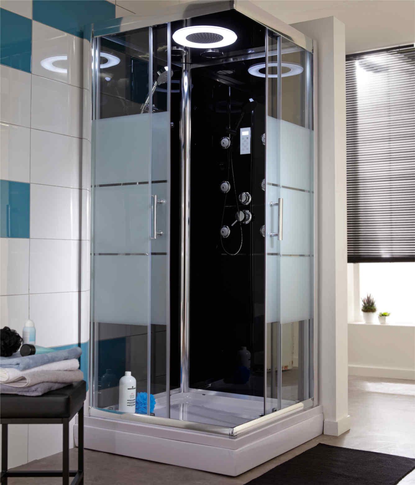 cabine de douche integrale avec mitigeur thermostatique. Black Bedroom Furniture Sets. Home Design Ideas